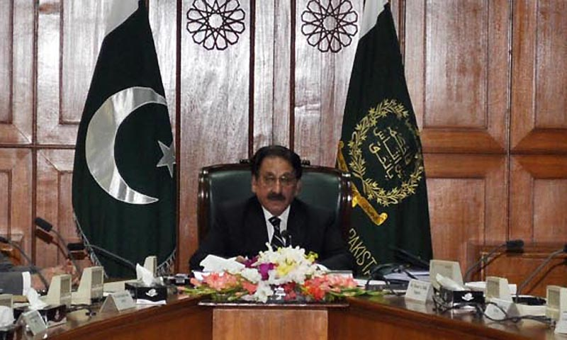 Chief Justice of Pakistan, Justice Iftikhar Muhammad Chaudhry chairing the meeting of Law and Justice Commission of Pakistan in Supreme Court of Pakistan. — Photo by INP