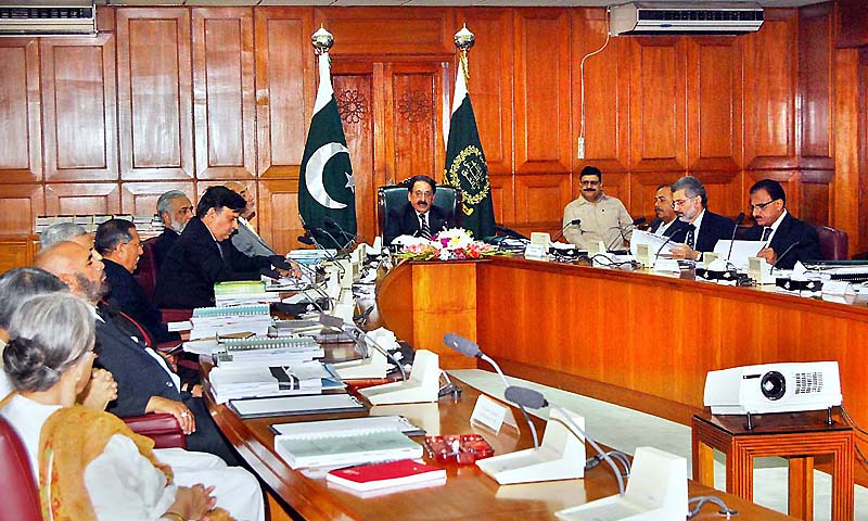 Chief Justice of Pakistan Justice Iftikhar Muhammad Chaudhry chairing the meeting of Law and Justice Commission of Pakistan in Supreme Court of Pakistan. — Photo by APP