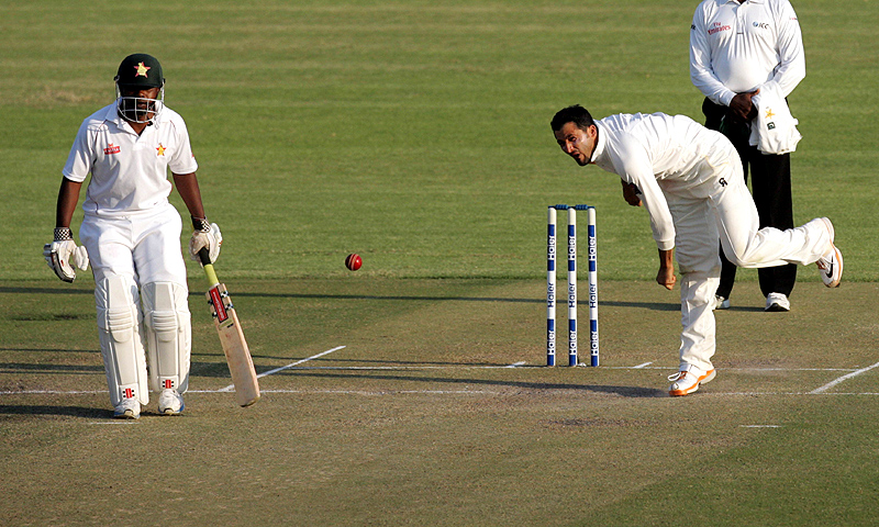 Junaid finished the innings with four for 67. -Photo by AFP