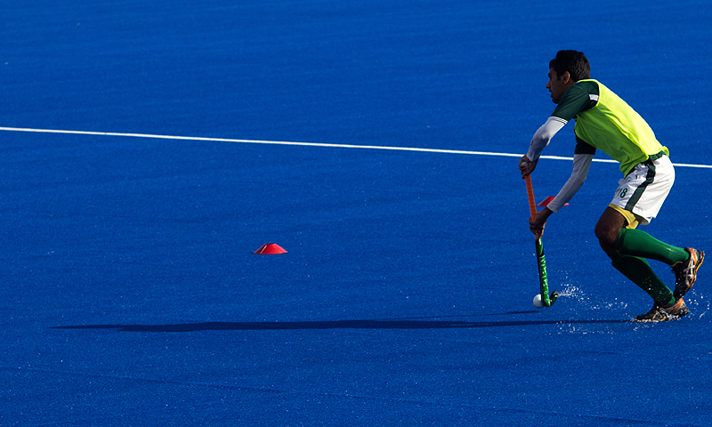 Pakistan, a four-time world champion and three-time Olympic gold medallist, failed to win the Asia Cup earlier this month, a victory they needed in order to qualify for next year's World Cup in the Netherlands. -Photo by Sara Faruqi/ Dawn.com