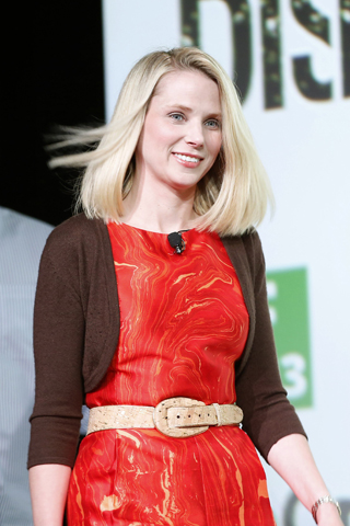 Marissa Mayer, President and CEO of Yahoo!, speaks on stage during a fireside chat session at TechCrunch Disrupt SF 2013 in San Francisco, California September 11, 2013. — Reuters Photo