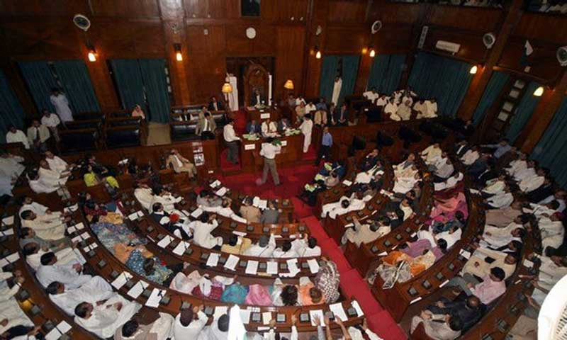 The image shows a view of the Sindh Assembly. — File photo