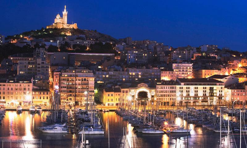 Crime-plagued Marseille city.