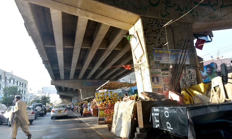 Under the Gizri flyover.