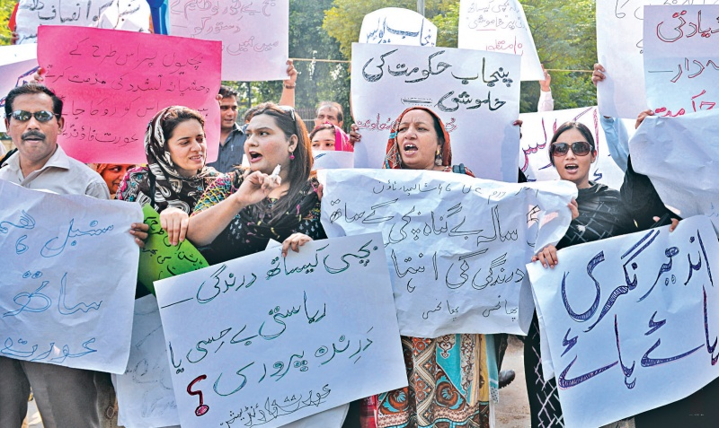 Civil society protests against gang-rape of a minor gilr - White Star