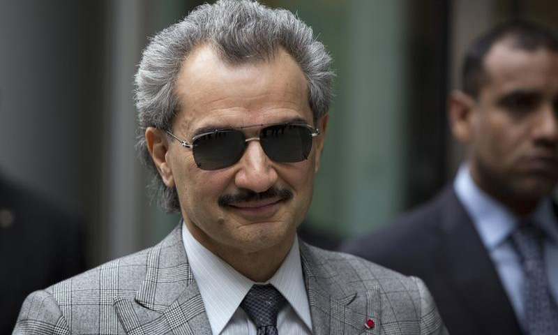 Prince Alwaleed bin Talal is seen leaving the High Court in London in this July 2, 2013 file photograph. — Reuters Photo