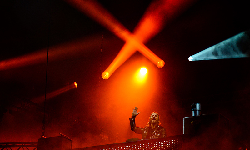 French DJ David Guetta performs on the opening day of the Rock in Rio music festival, in Rio de Janeiro, Brazil, on September 13, 2013. - Photo by AFP