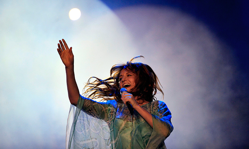 Florence Welch, singer of the English band Florence and the Machine, performs at the Rock in Rio Music Festival. - Photo by Reuters