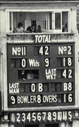As trouble against the government brewed in India, the country's cricket team lost the 1974 series to England 3-0. In the second innings of the Lord's Test, the whole team was bundled out for just 42 runs.