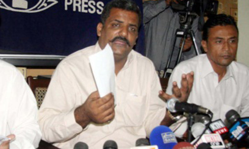 Peoples' Aman Committee member Zafar Baloch. -PPI-File Photo