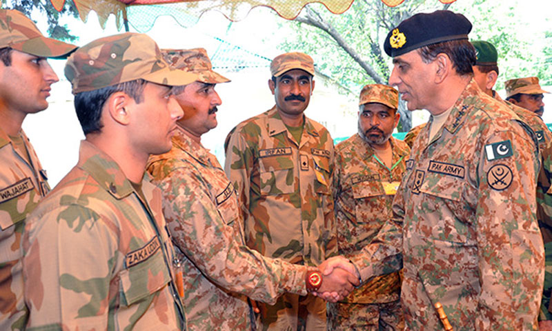 Pakistan's army chief General Ashfaq Parvez Kayani Saturday appreciated the troops for successfully evicting the militants from Malakand Division. – Photo courtesy ISPR
