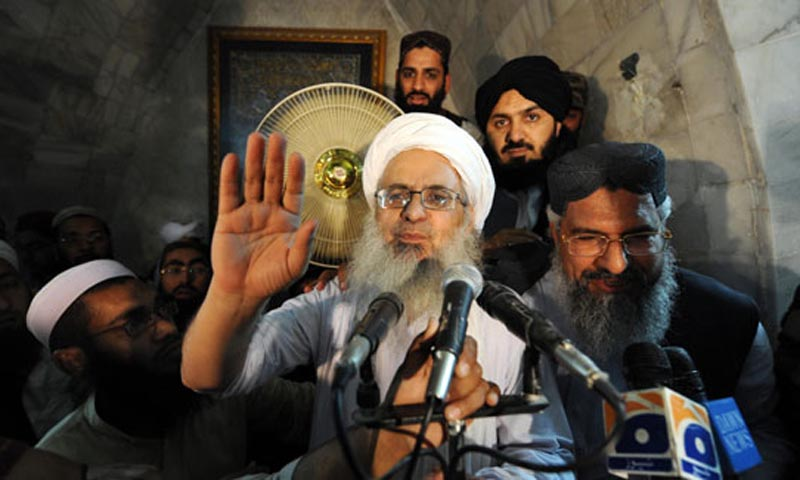 Maulana Wajihullah advocate, counsel of Maulana Aziz (above), after the cleric's acquittal told Dawn that former president General (retired) Pervez Musharraf had forced the police to register fake cases against the cleric and his family members.   He said Maulana Aziz and his family members had now been acquitted from all fake cases but Gen Musharraf himself was still facing trials.— File Photo