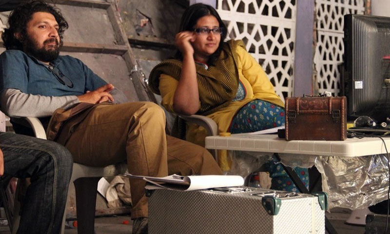 Farjad Nabi and Meenu on the set of Zinda Bhaag.