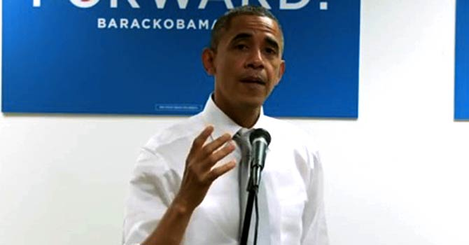 President Barack Obama speaking at his campaign headquarters in Chicago. — File Photo