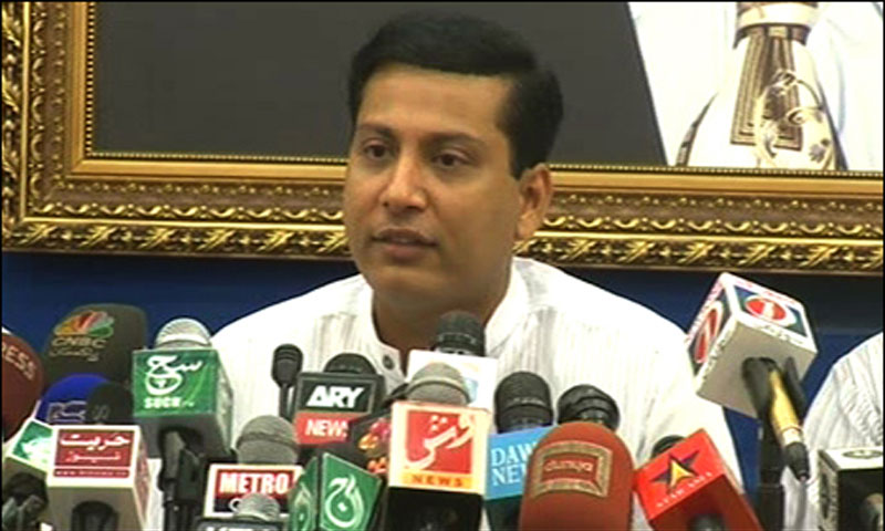 Central leader of MQM and Sindh MPA, Faisal Sabzwari speaks during a press conference at Nine-Zero in Karachi. – File Photo