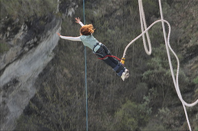 Malala bungee jumping hours after she was allegedly 'shot.'