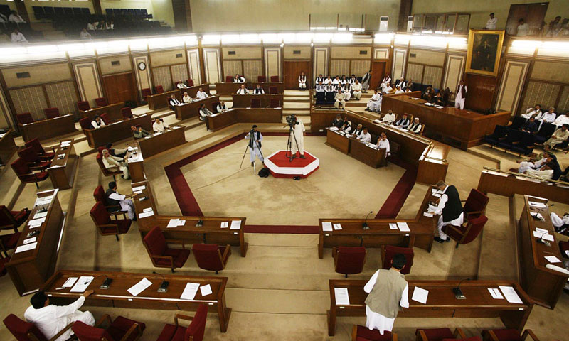 A view of the Balochistan Assembly. — File photo