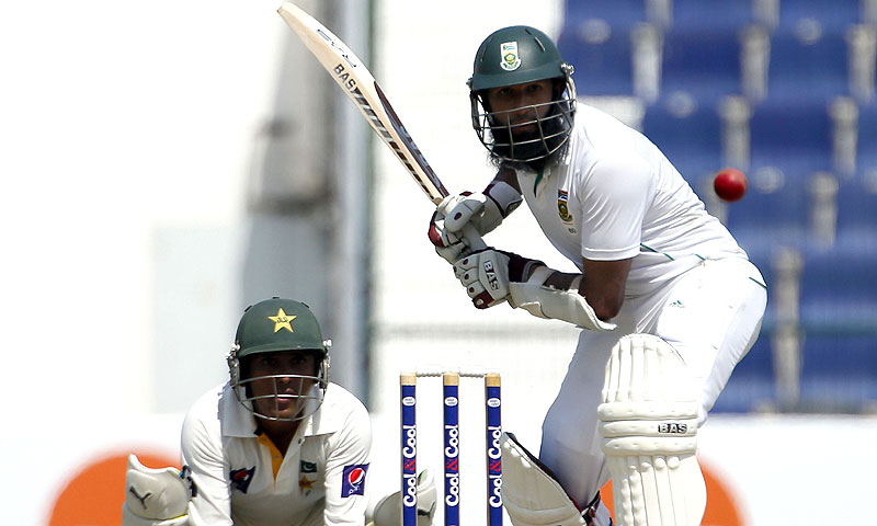 Amla hit 13 fours in his unbeaten 118 off 250 balls. -Photo by AFP