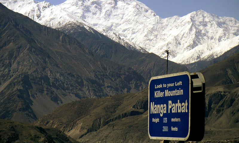 Nanga Parbat , the country's second highest peak.—Photo by AP