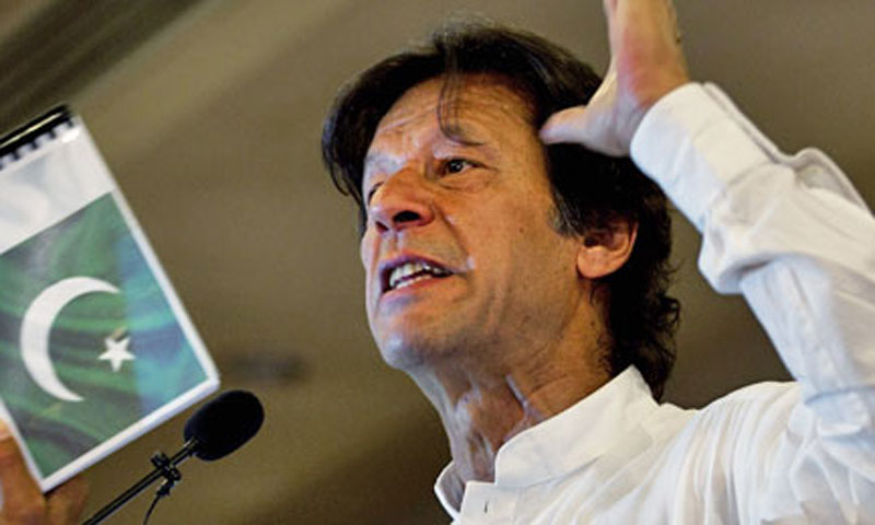 Paistan Tehrik-i-Insaf (PTI) chief Imran Khan.—File Photo