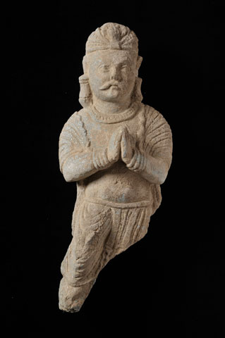 A statue of a devotee from Saidu Sharif I main stupa: first half of the 1st century CE.