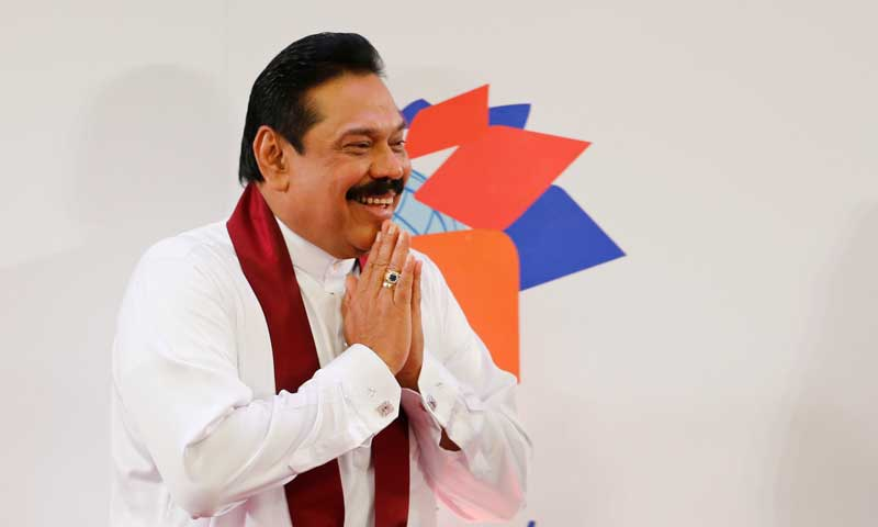 Sri Lankan President Mahinda Rajapaksa. — Photo by AP
