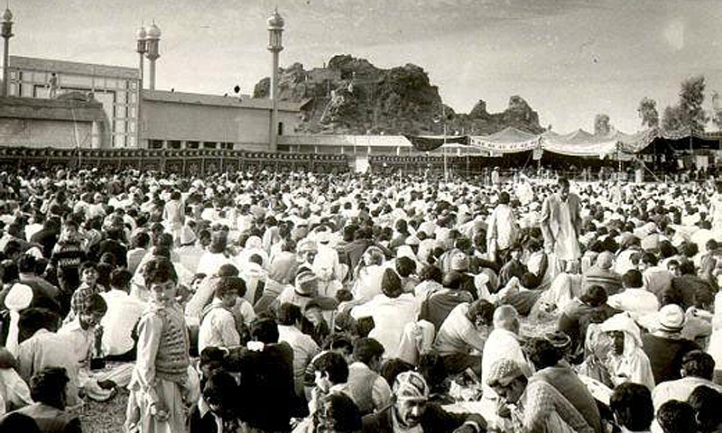 A religious gathering of the Ahmadiyya in Rabwa in the 1960s.