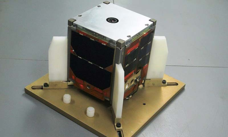 Pakistan's first Cubesat satellite, iCUBE-1 – Photo courtesy Institute of Space Technology Pakistan