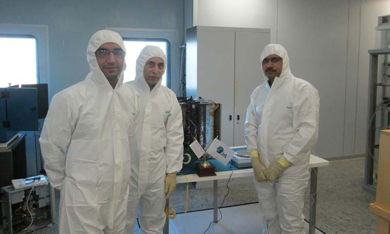 The IST team in their lab. - Photo courtesy Institute of Space Technology Pakistan