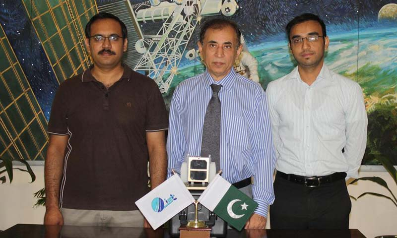 The IST team on the launch day. – Photo courtesy Institute of Space Technology Pakistan
