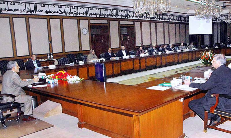 Presided over by Finance Minister Ishaq Dar, the meeting was informed that the Economic Affairs Division had been constrained to sign new memoranda of understanding with International Non-Governmental Organisations (INGOs), particularly those relating to ongoing operations.   — Photo by APP