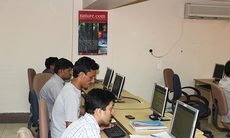 Young scholars research scientific literature at the Latif Ebrahim Jamal National Science Information Center (LEJ), which falls under the ICCBS. The facility is connected to one of the world's largest science database, ranging from thousands of primary research journals and books. -Photo by author