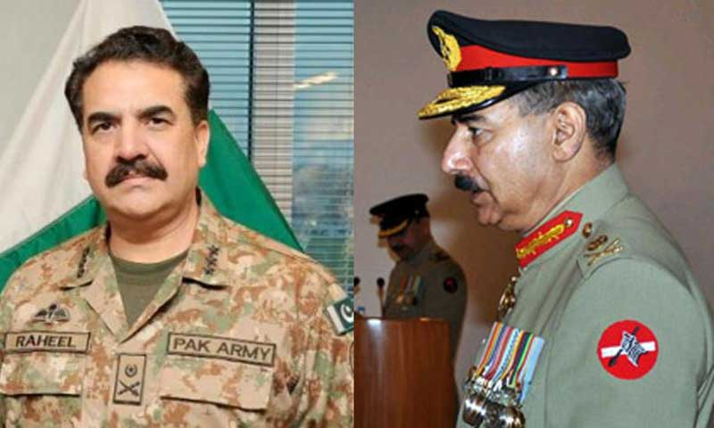 Lt Gen Raheel Sharif (L) and Lt Gen Rashad Mahmood. — File