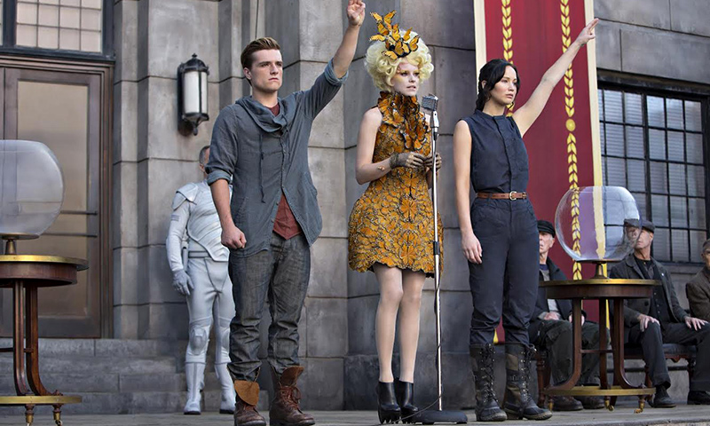 """A scene from movie, """"The Hunger Games: Catching Fire"""". - Courtesy Photo"""