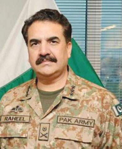 The newly-appointed Chief of Army Staff, Gen Raheel Sharif, wears a classic chevron moustache.