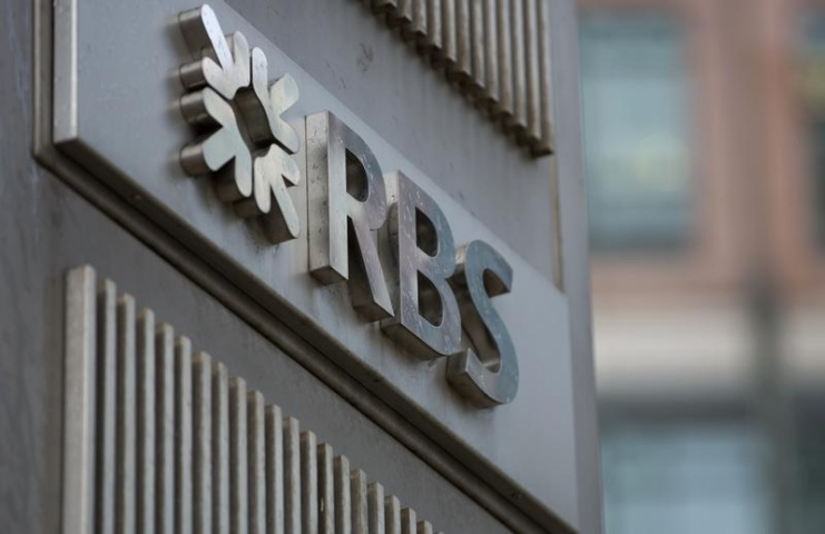 The logo of the Royal Bank of Scotland is seen at an office in London February 6, 2013.— Reuters Photo