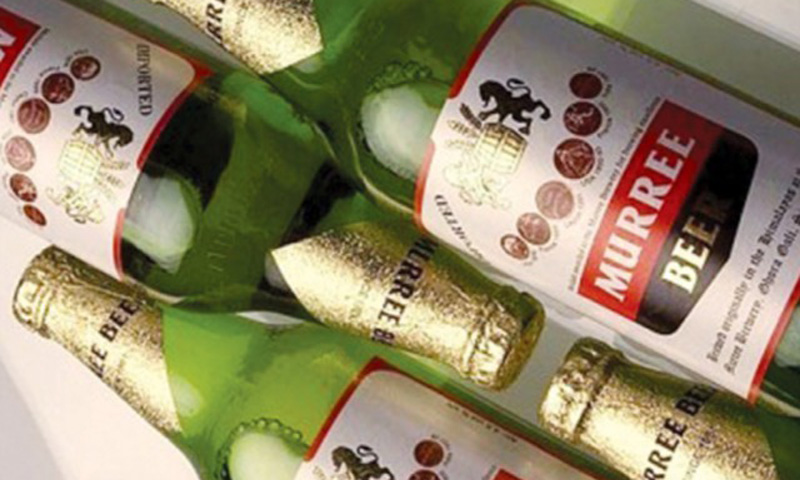 Murree Beer bottles that are served in restaurants in Europe and the US are slightly different than the ones available in Pakistan.