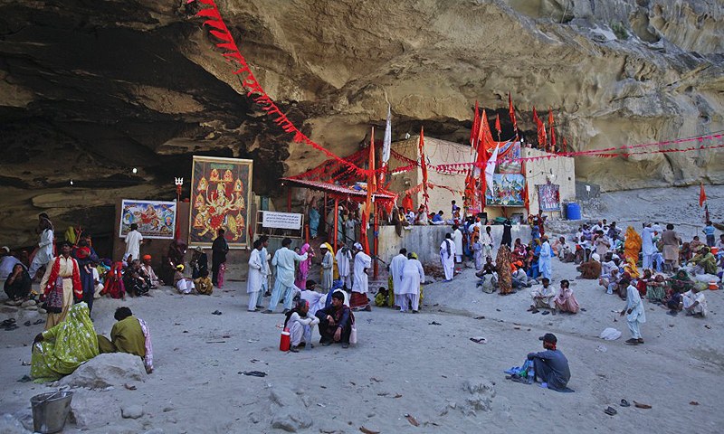 The Hinglaj Mata temple is located in the Lasbela district of Balochistan.