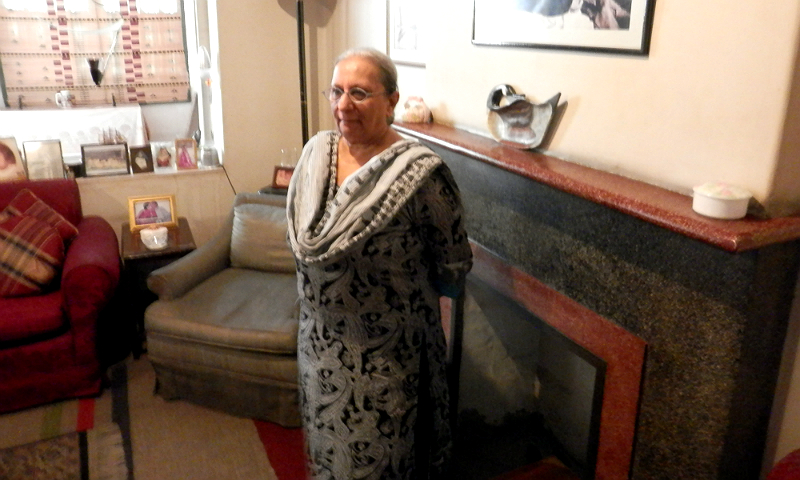 Nighat Patel, Manto's eldest daughter is still a resident of the Lakshmi building in Lahore. -Photo by Akhtar Balouch