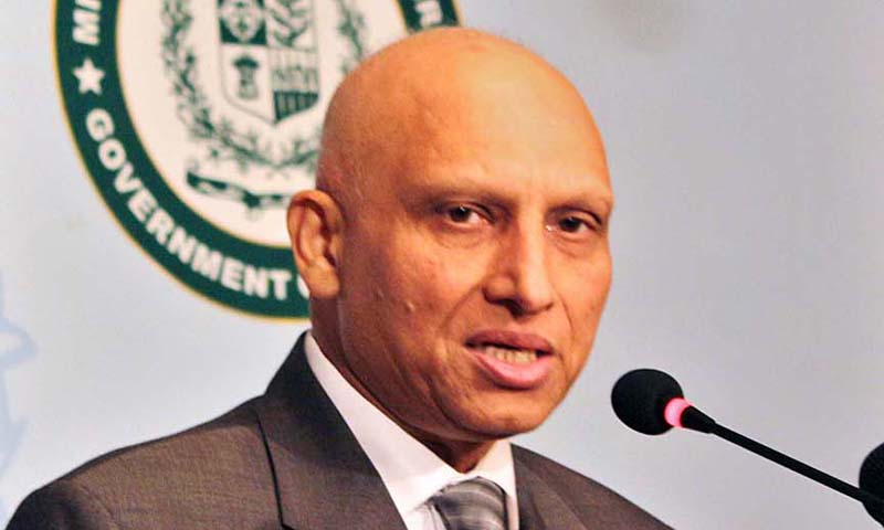 Aizaz Chaudhry speaks during weekly media briefing at Foreign Office. — Photo APP
