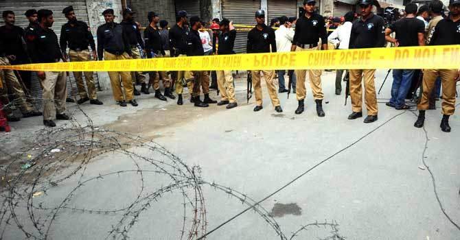 Security forces cordoned off the area as a probe into the incident went underway. — File Photo