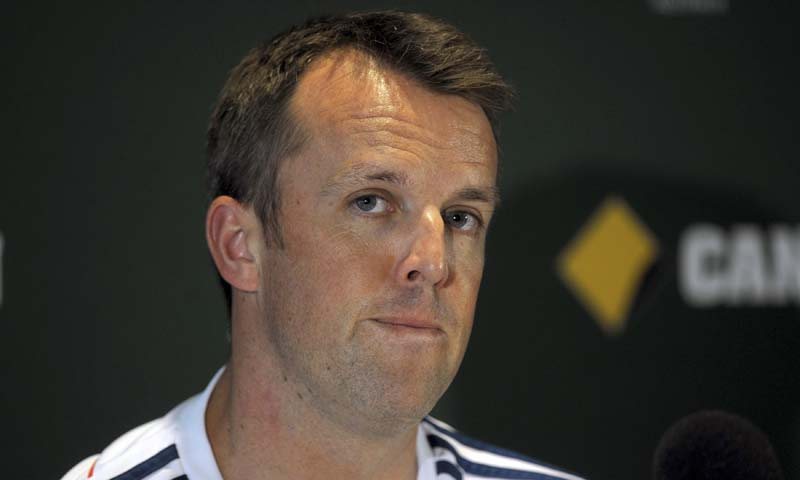 England's Graeme Swann announces his retirement during a press conference at the Melbourne Cricket Ground in Melbourne, Australia, Sunday Dec. 22, 2013. — Photo AP