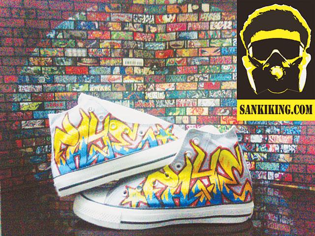 Custom sneakers.