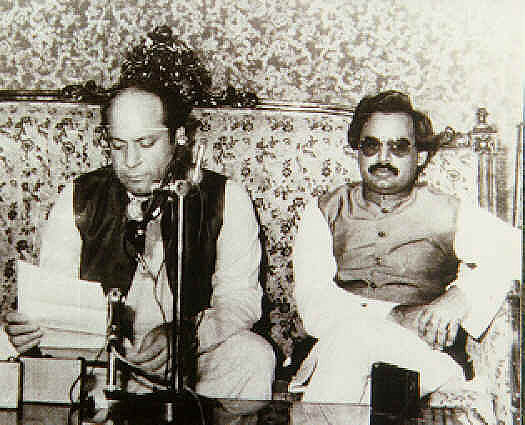 Nawaz Sharif with MQM chief Altaf Hussain in 1991. Sharif's government would eventually order a military operation against the MQM in 1992.