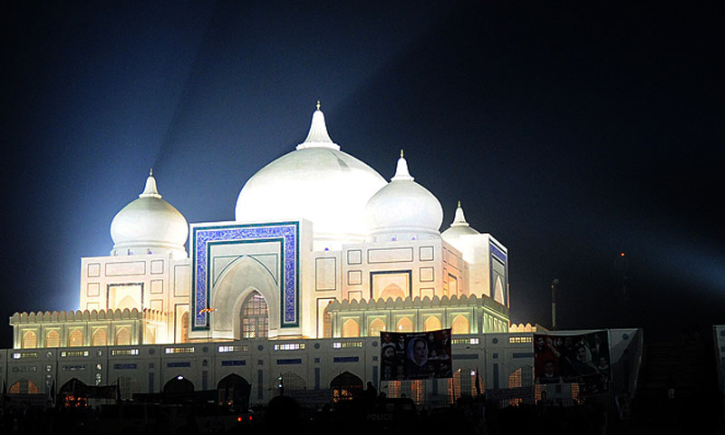 Perhaps considering the role those entombed inside it have played in national politics, it may be a befitting monument, especially considering the Bhuttos' status as politicians-cum-folk heroes in Sindh— File photo