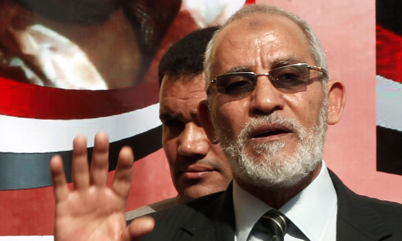 Egyptian Muslim Brotherhood chief Mohamed Badie. — File photo