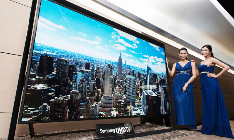 samsung 85 inch tv. in this undated handout photo released by samsung electronics co. monday, dec. 30 85 inch tv s