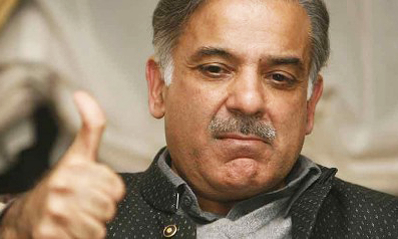 CM Punjab, Shahbaz Sharif, gestures after scoring another victory against vulgarity.