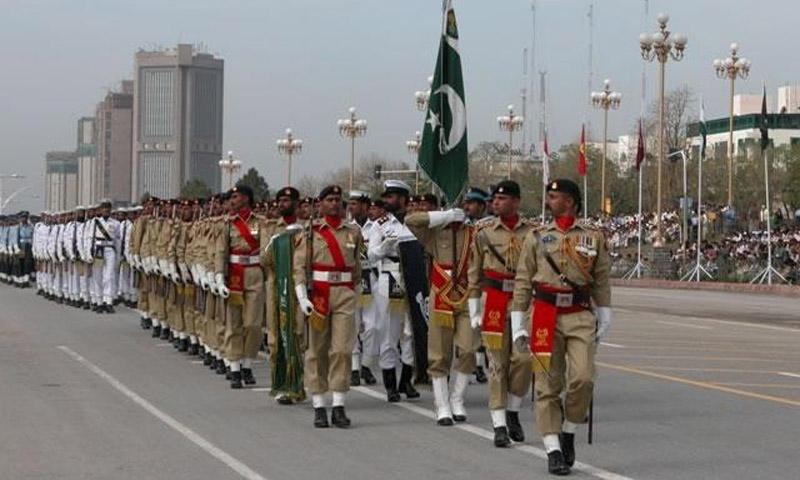 pakistan forces parade