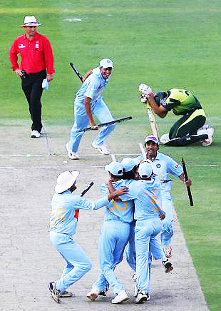 A bitter-sweet return. Misbah returned to the squad for the 2007 T20 World Cup and became Pakistan's leading scorer in the tournament. However, after helping the team pull-off an almost miraculous victory against India in the final, he got out in the last over of the game, playing an unorthodox shot.